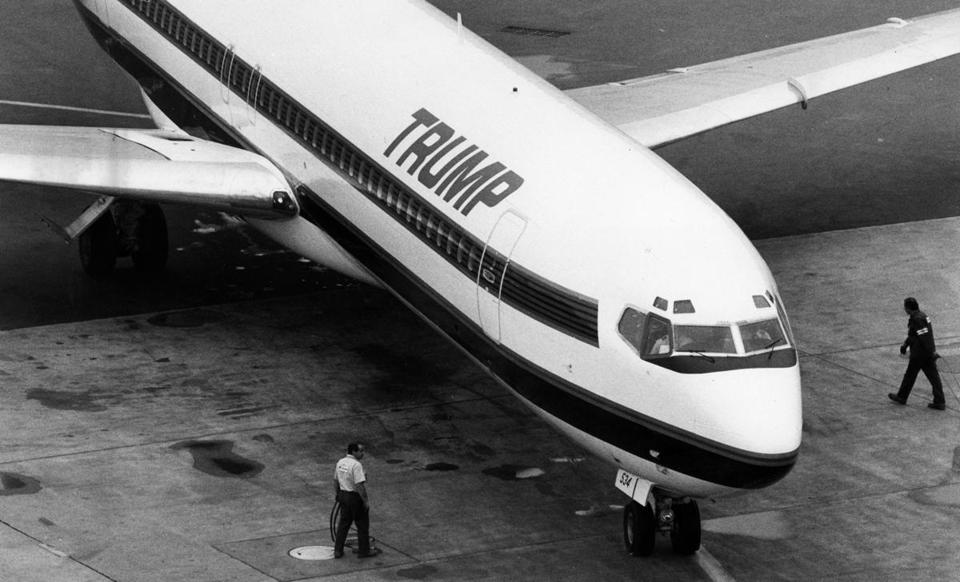 The Trump Shuttle prepared to take off from Logan Airport in 1989.